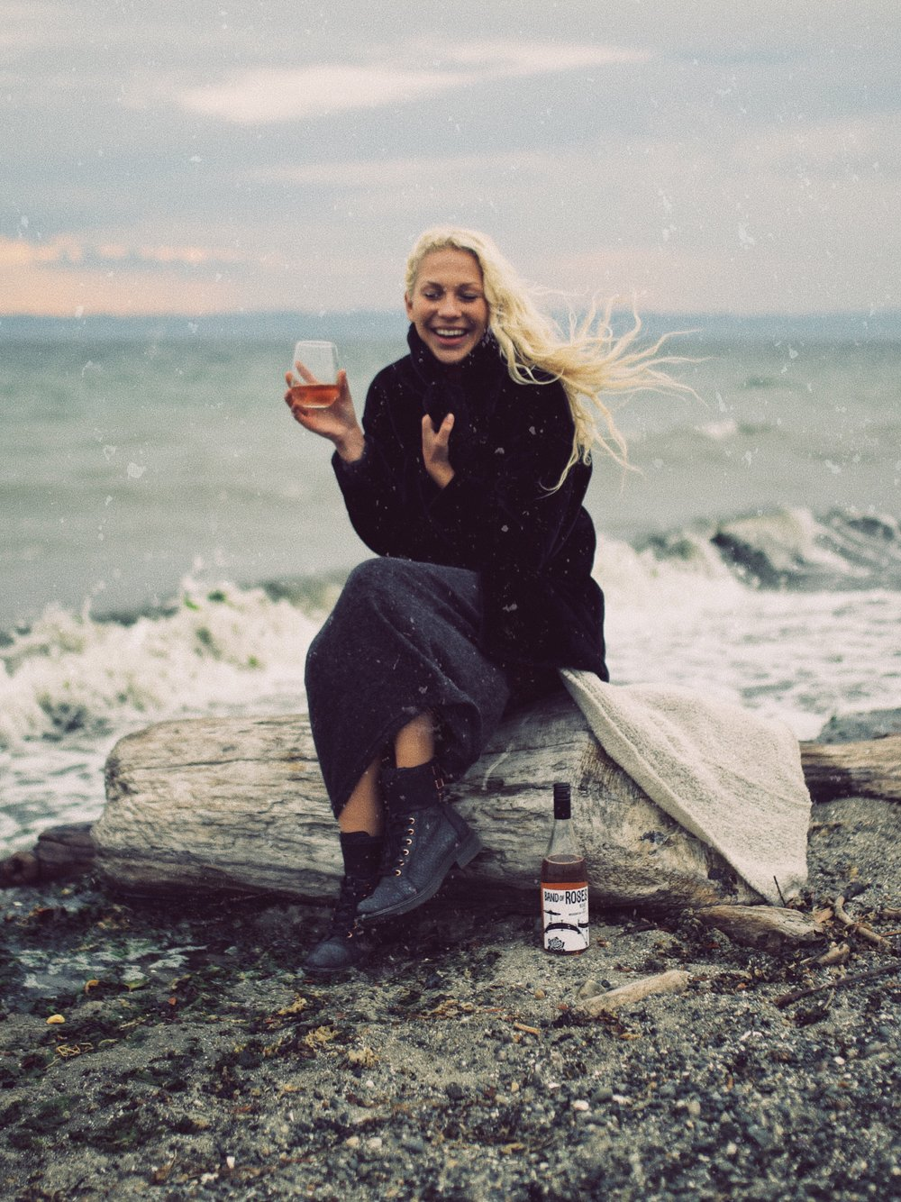 Charles Smith Wines - Had the opportunity to capture this awesome Rose on the shore of Discovery Park for a social media campaign with Charles Smith wines. My friend Cato who you see in these photographs I feel really brought the feel of this wine to life!