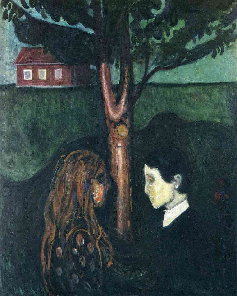 Eye in Eye ; Edvard Munch; 1894; Oil on canvas; 136 x 110 cm; The Munch Museum