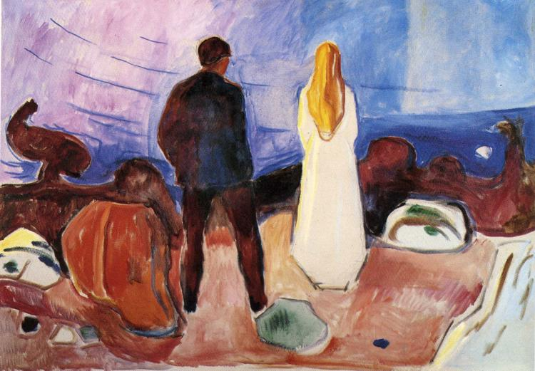 Edvard Munch;  The Lonely Ones ; 1935; Oil on Canvas; 100 x 130 cm; The Munch Museum