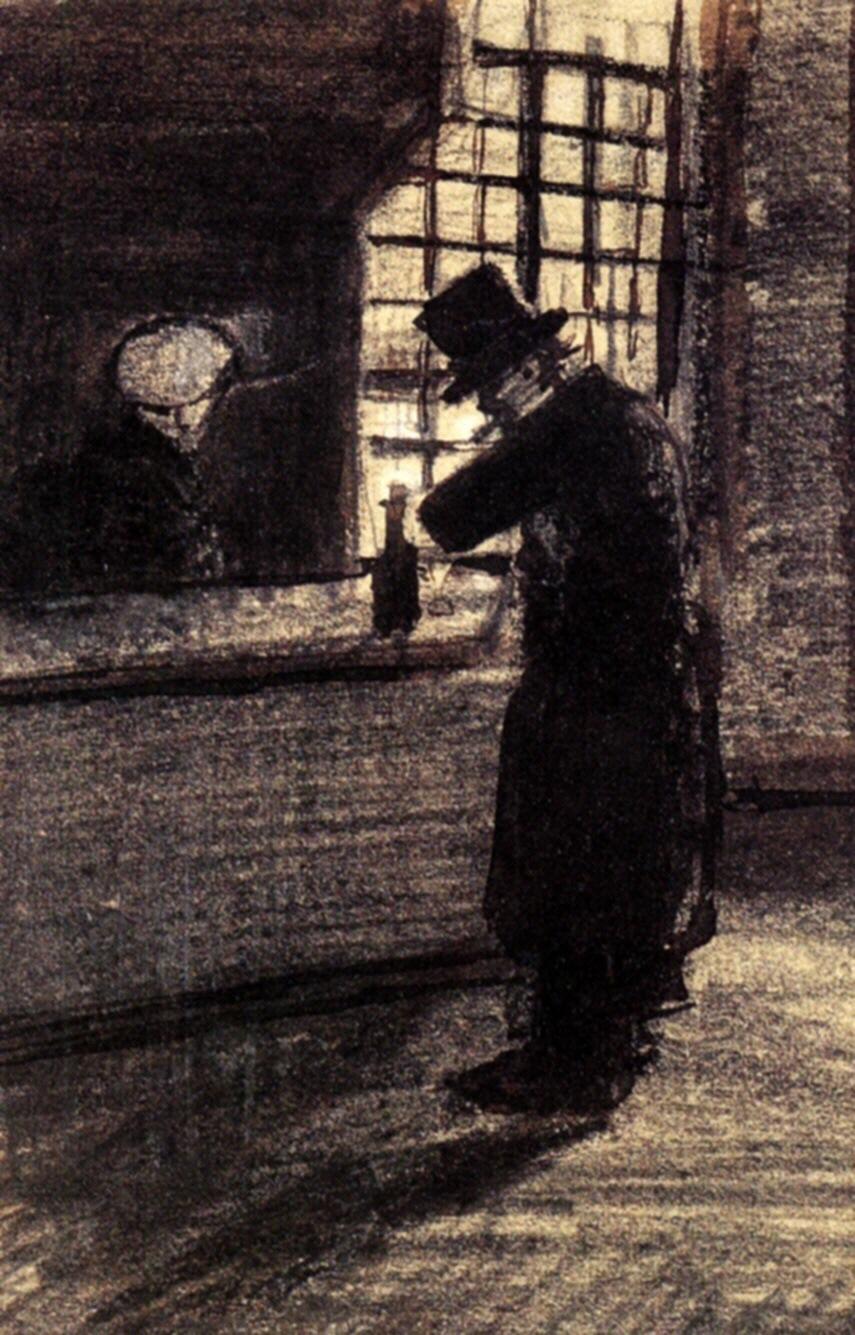 Man in Village Inn; Vincent Van Gogh;1883