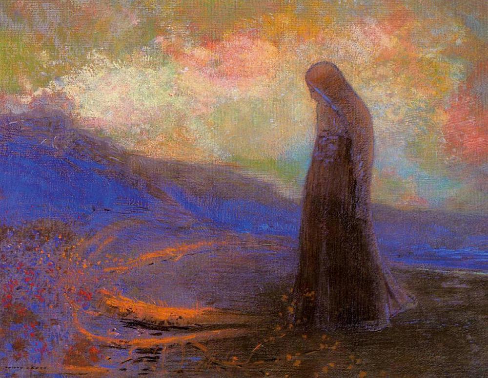 Reflection ; Odilon Redon; Pastel on Paper