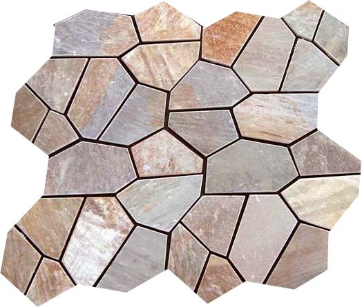 Sofala Quartzite - Random Pattern on nets. The image above show 4 netted pieces - can you pick them out?