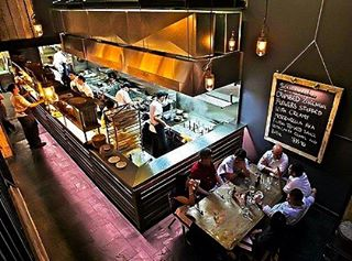 | S L A T E | Bellstone's Chinese Black Slate features on the floor of Jamie's Italian Restaurant in Sydney's CBD. This natural stone is popular for use in restaurants and bars because it's highly impermeable to water, exceptionally durable and easy to clean. It's also incredibly dense with a nicely textured natural split surface finish which provides character & excellent slip resistance. For this reason it's also an ideal choice for bathrooms, shower recesses and water features and is suitable for flooring & walls both indoors and outdoors. For more info get online now - www.bellstone.com.au or give us a call on (02) 9725 2201 #naturalstone #jamiesitalian #slate #chineseblackslate #naturalsplit #restaurantdesign #flooringslate #floorslate #slatefloor #slateflooring #designinspo #bellstone #instadesign #commercialdesign #luxurystone #houzzau #stonefloor #stoneflooring #restaurantinterior #interior #interiordesign