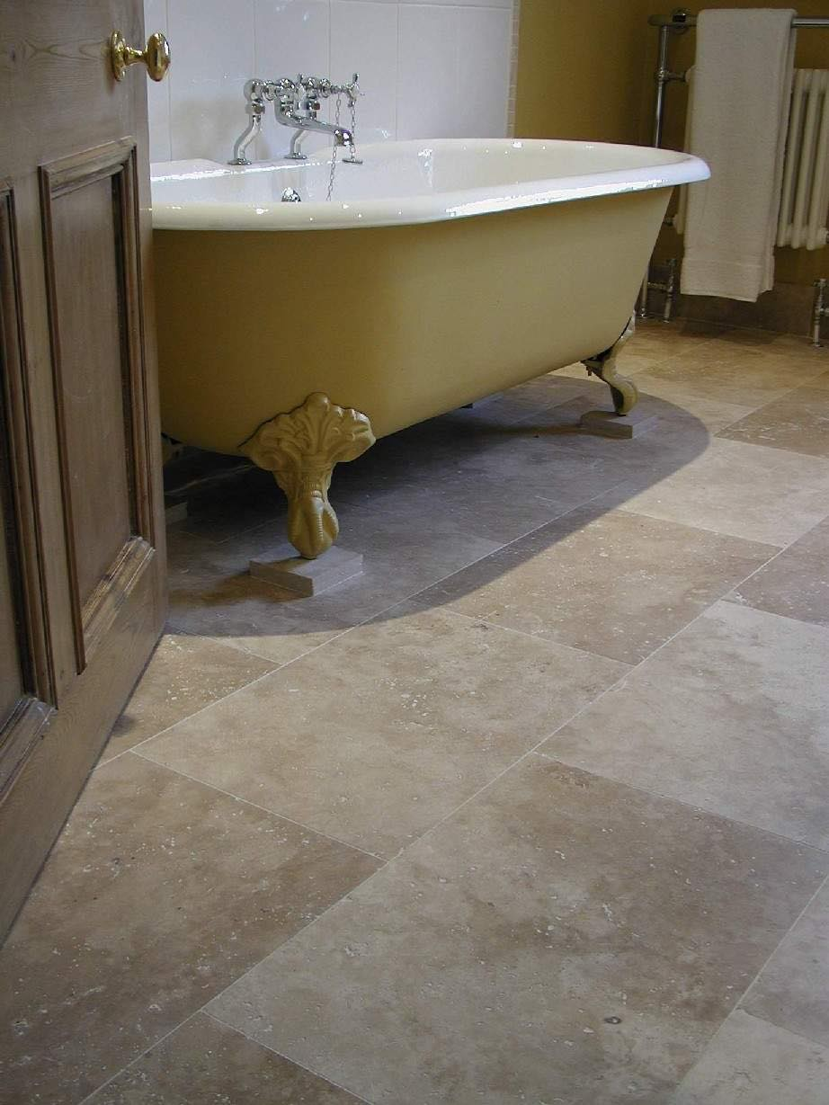 Walnut Travertine Floor Tiles - Honed & Filled