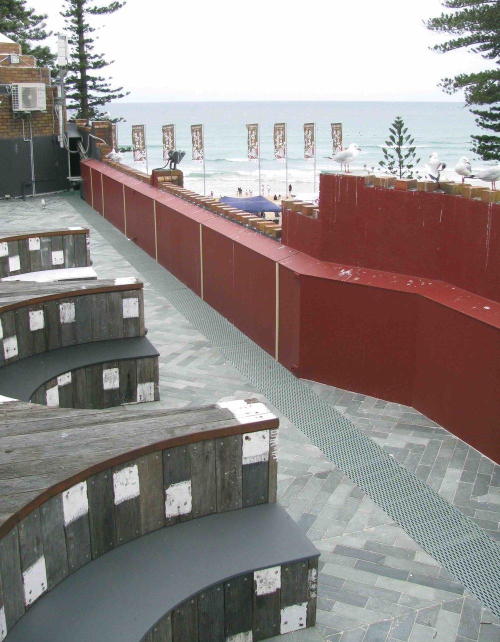 Arctic Green Floor Slate - Hotel Steyne, Manly