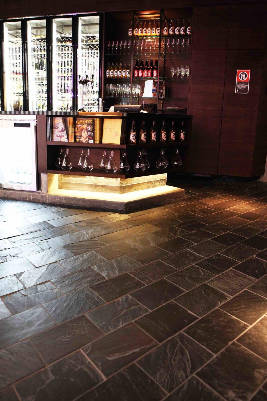 Chinese Black Floor Slate - Momofuku, Sydney