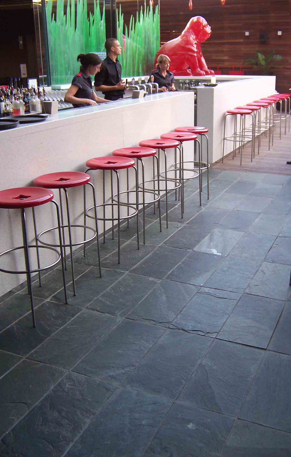 Arctic Green Floor Slate - The Eastern Hotel, Sydney