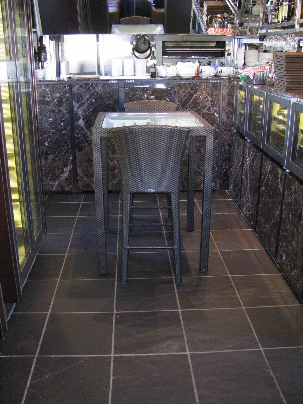 Chinese Black Floor Slate - The Sydney Cove Oyster Bar