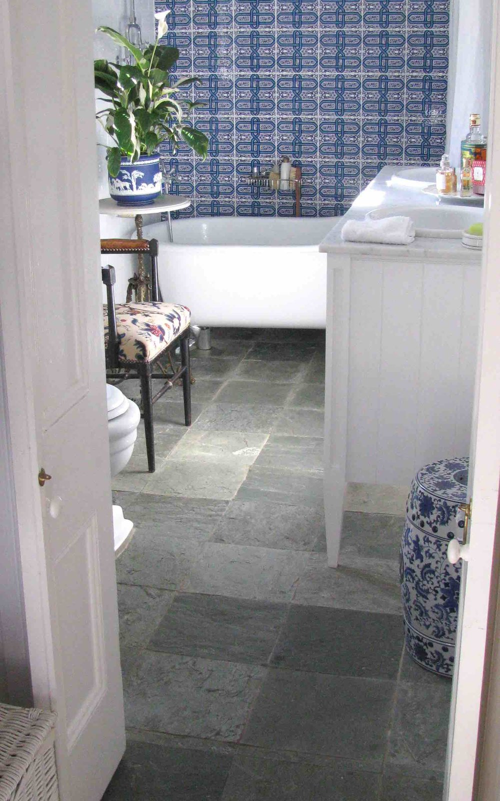 Arctic Green Bathroom Floor Slate - Berrima