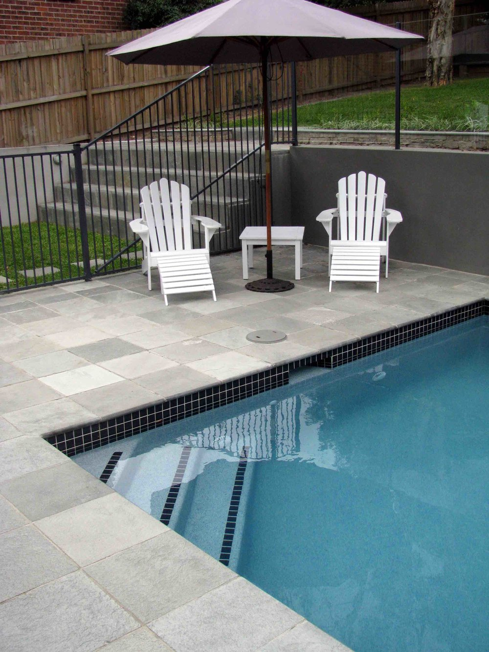 Grey Gum Quartzite Pool Paving