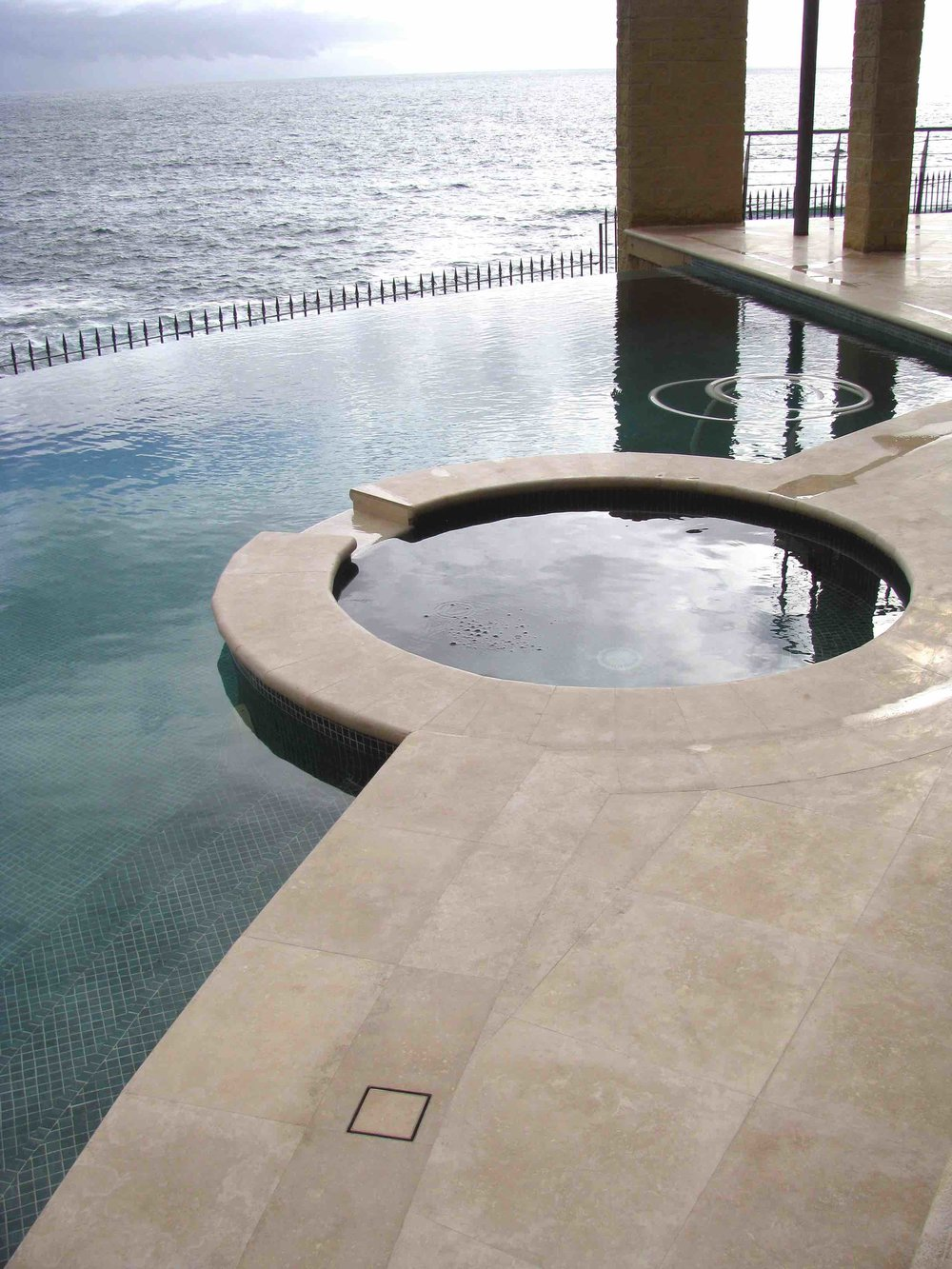 Mocha Travertine Pool