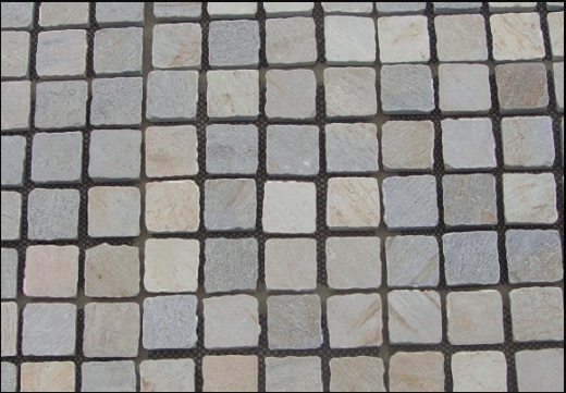 Sofala Quartzite Cobbles - New Arrival - 100x100x25-30mm cobbles on netted sheets 400x400mm