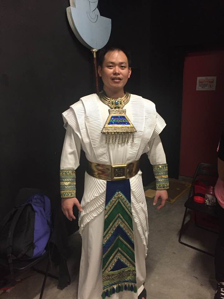Testing the costume: Alvin Tan as Ramfis