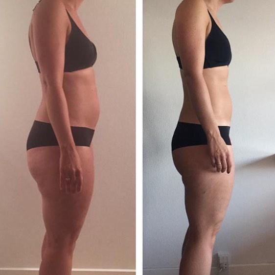 En mor med et fuldtidjob, 8 uger. træningen tager 1 time, 4 gange i ugen. - 8 kilo smidt