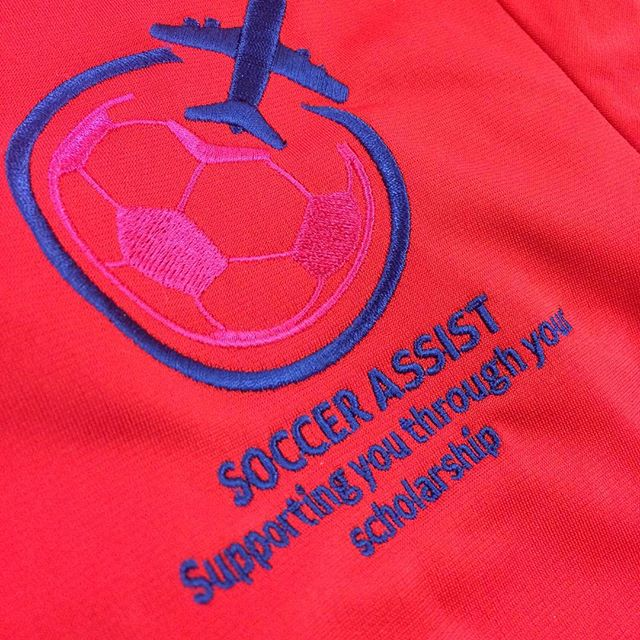 Some embroidery for our friends at @soccerassist 👌🏽👌🏽