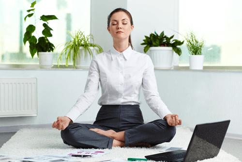 Yoga At Work stress calm meditation stretch health mindfulness