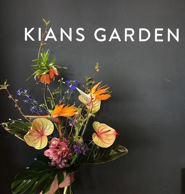 LE BOUQUET 💁🏻♀️ #gründonnerstag #kiansgarden #schönetbouquet #fritten #delphinium #anthurium #exotenmeetswiese #colours #flowergram #weloveflowers #happyweekend