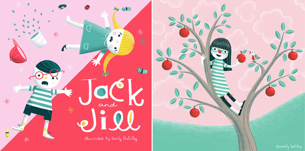 L - Jack and Jill book cover design - R - Self-Portrait
