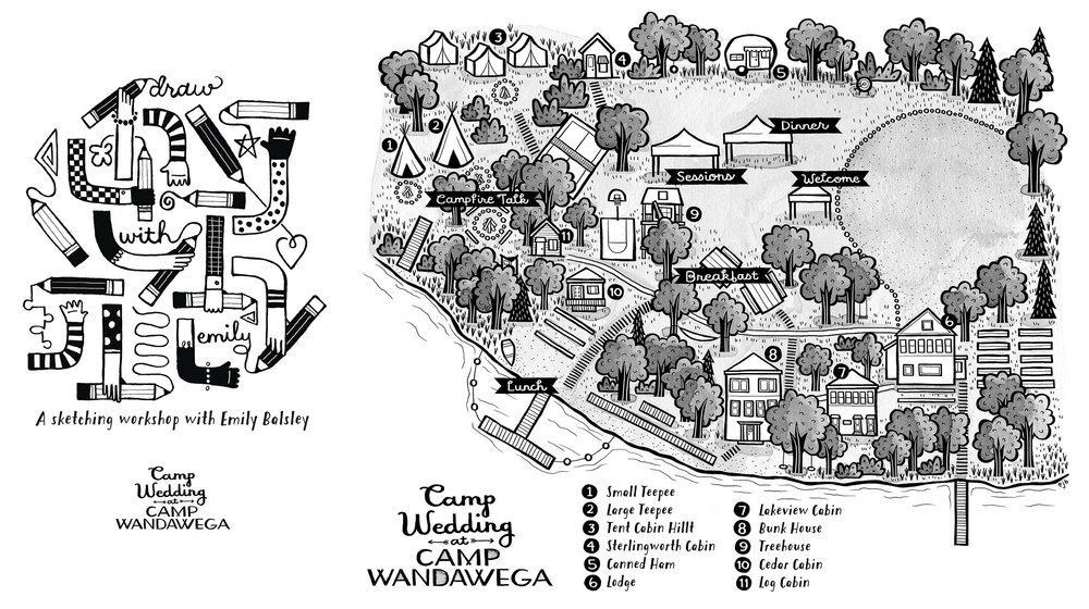 Workbook and Map for Camp Wedding