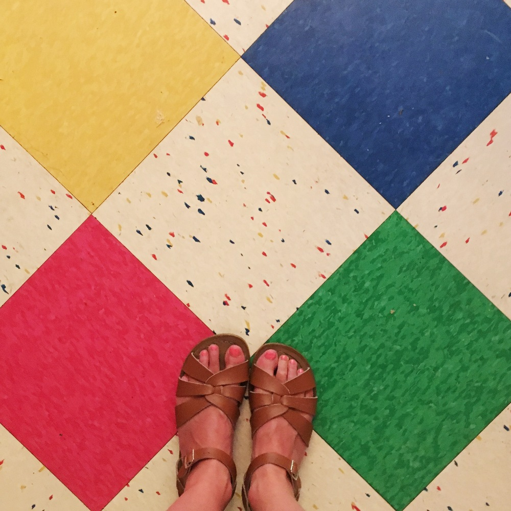 The first night we had the most amazing Tex-Mex at  Chuy's . The food and margaritas were phenomenal - and look at this floor!