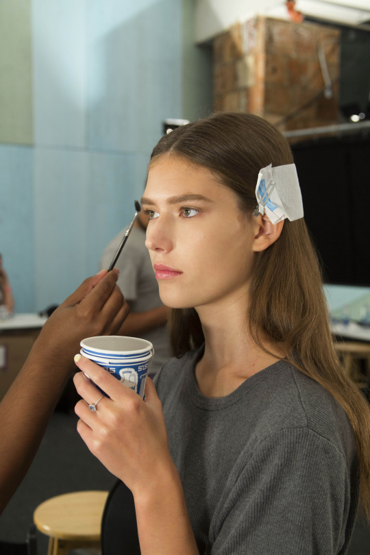 Backstage at Derek Lam