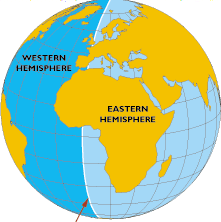 """In doing some """"fact-checking"""" for this piece I discovered that most of Europe is actually in the Eastern Hemisphere, which was a convenient but unexpected fact."""