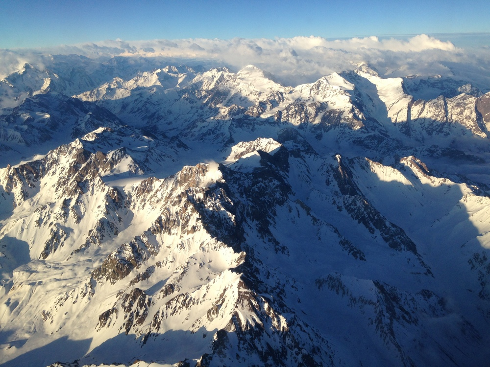 View above the Andes