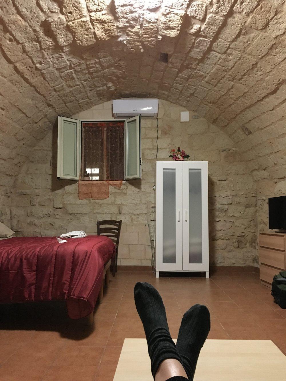My AirBnb Room: Half-underground hobbit hole