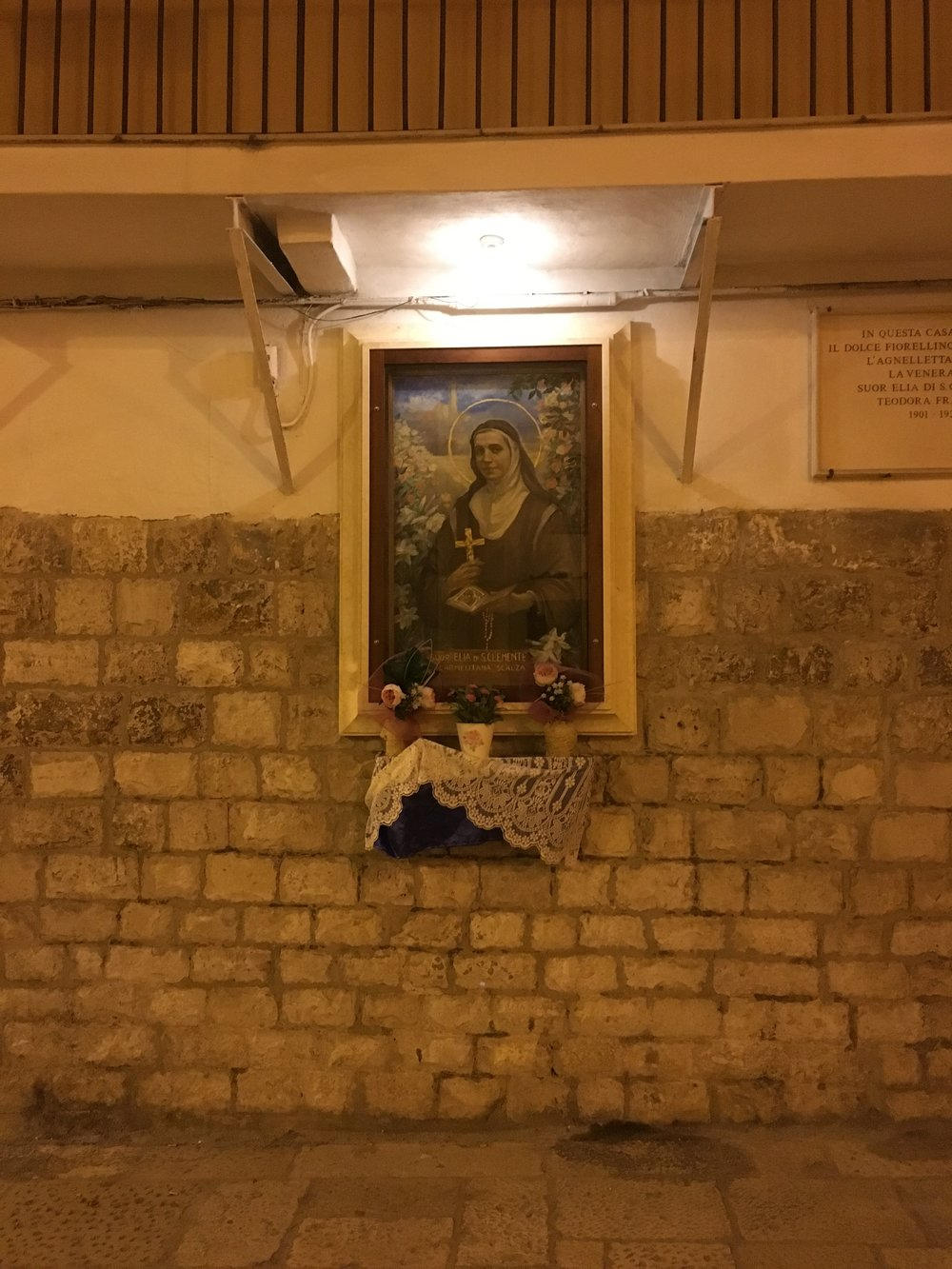 Street Altar by night