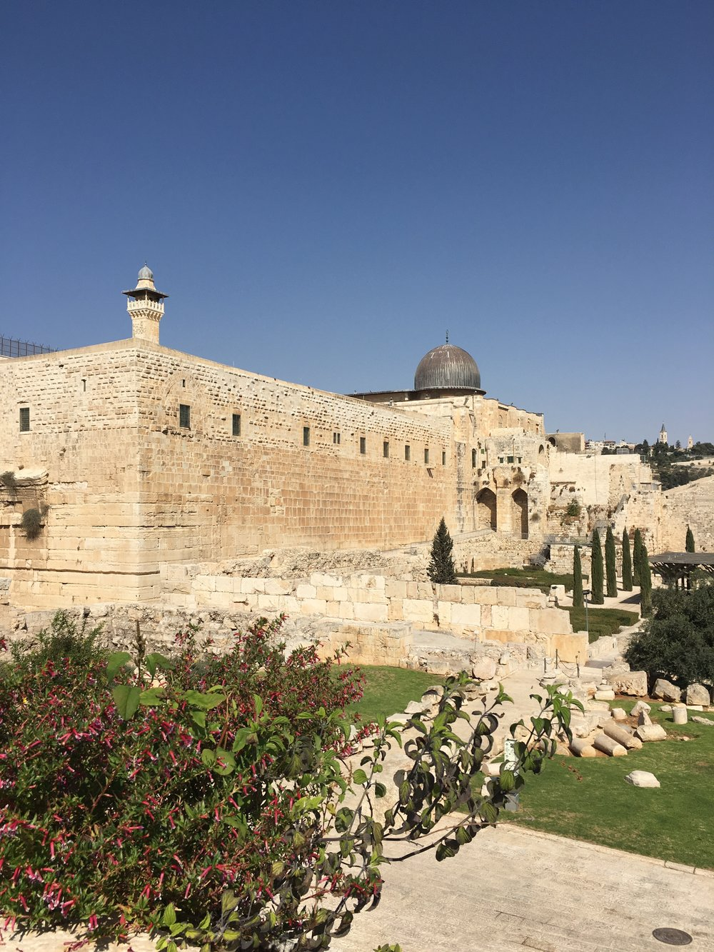 Mosque of the Dome of the Rock, housing the Foundation Rock: perhaps second most holy of Muslim sites, after Mecca