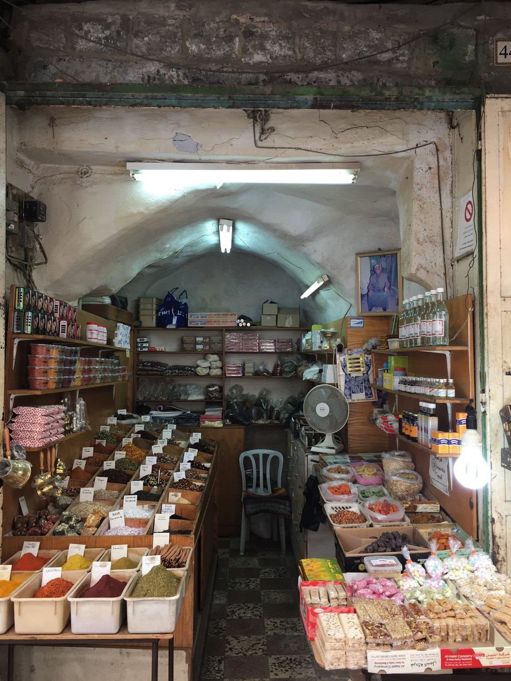 Spice stall in Jerusalem souk
