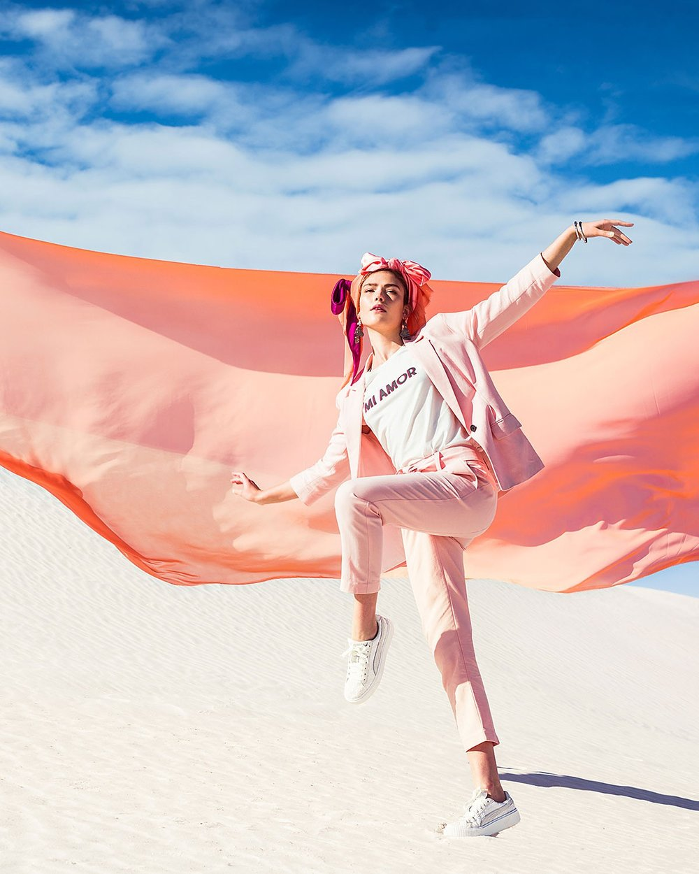 Second Shoot in White Sands: Bloomingdales March Catalogue. Shot by Elizaveta Porodina
