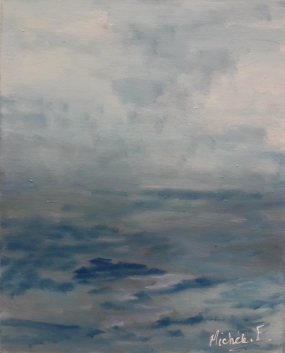 Noces de brouillard, Oil on canvas 50x40cm