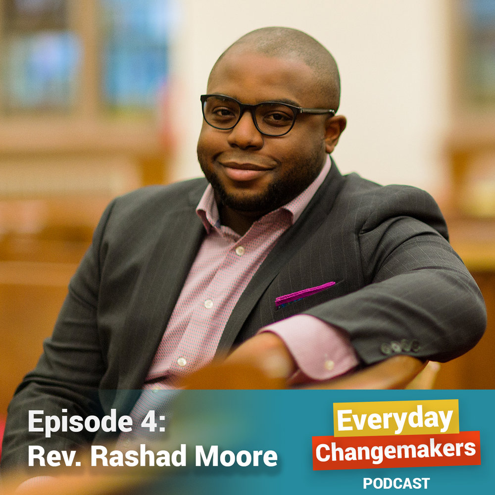 On Beloved Community, Letting Go to Grow, and Protecting Joy - Rev. Rashad Moore is a minister at the historic Abyssinian Baptist Church in Harlem, NYCRashad grew up steeped in the Baptist church, and came to Abyssinian inspired by their legacy of fighting for justice and freedom. We discuss his approach to ministry, from the