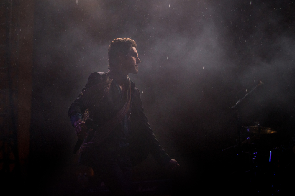 Perry Farrell leads Jane's Addiction through the rain at Riot Fest in Chicago.