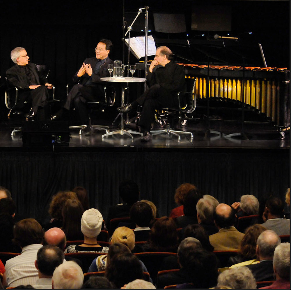 self comes to mind :  ANTONIO DAMASIO,  Yo-yo ma, and bruce adolphe