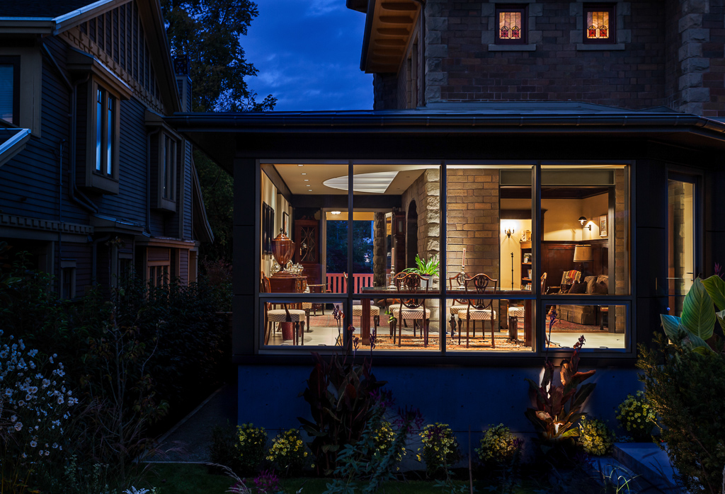 Vancouver Heritage Architecture - Campbell Residence twilight exterior
