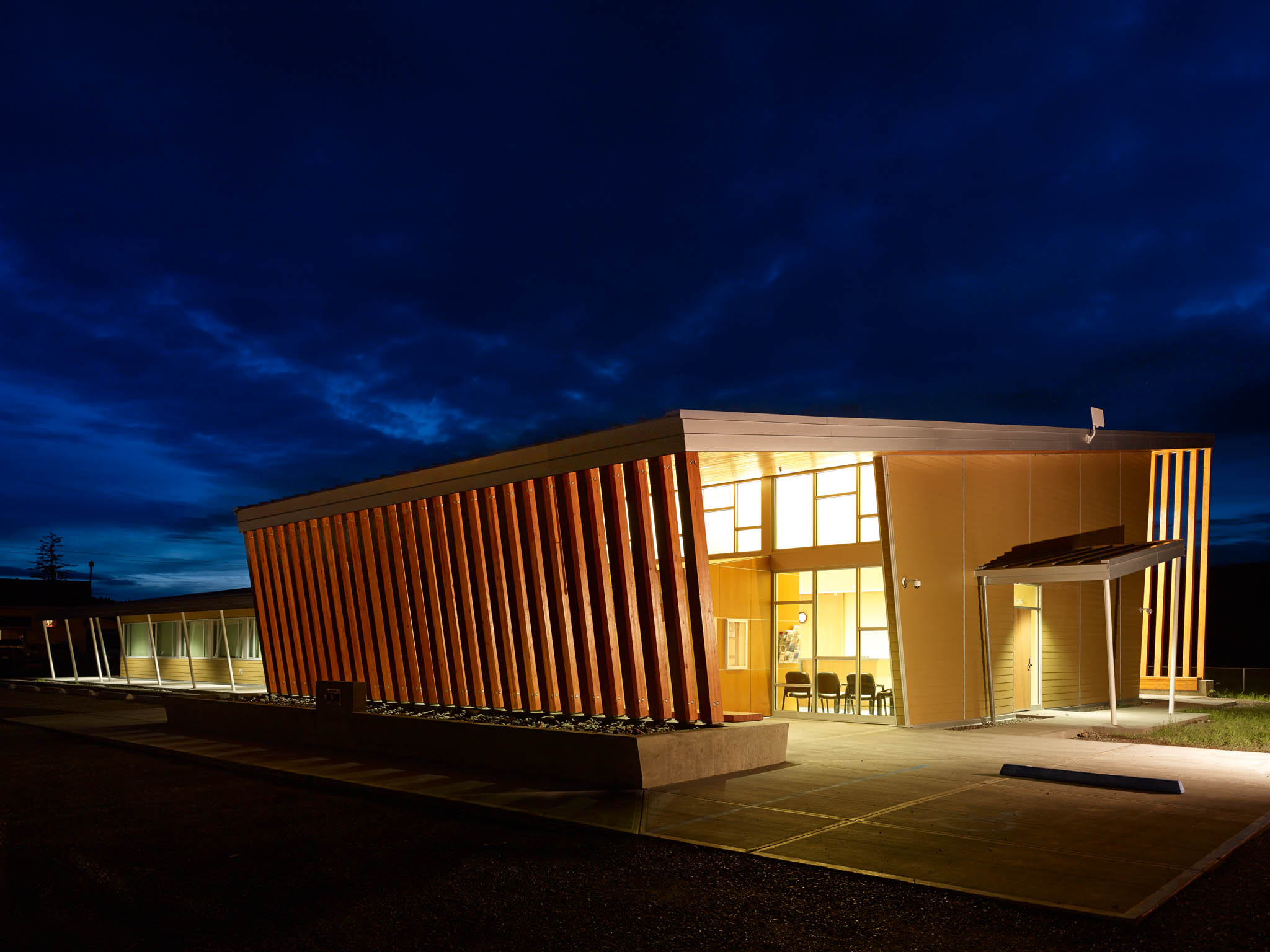 Yunesitin First Nation Health Centre Williams Lake wood architecture