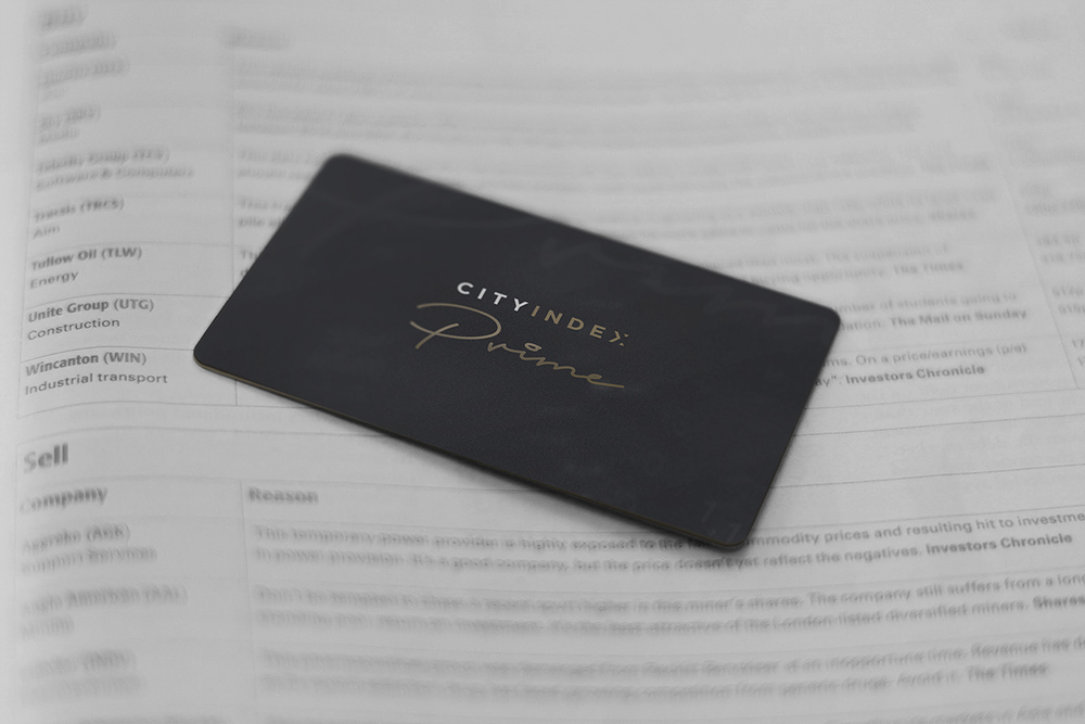 City Index Prime business card