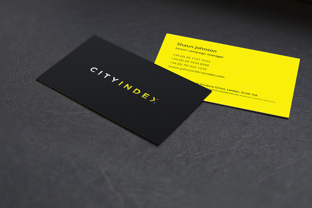 City Index business card
