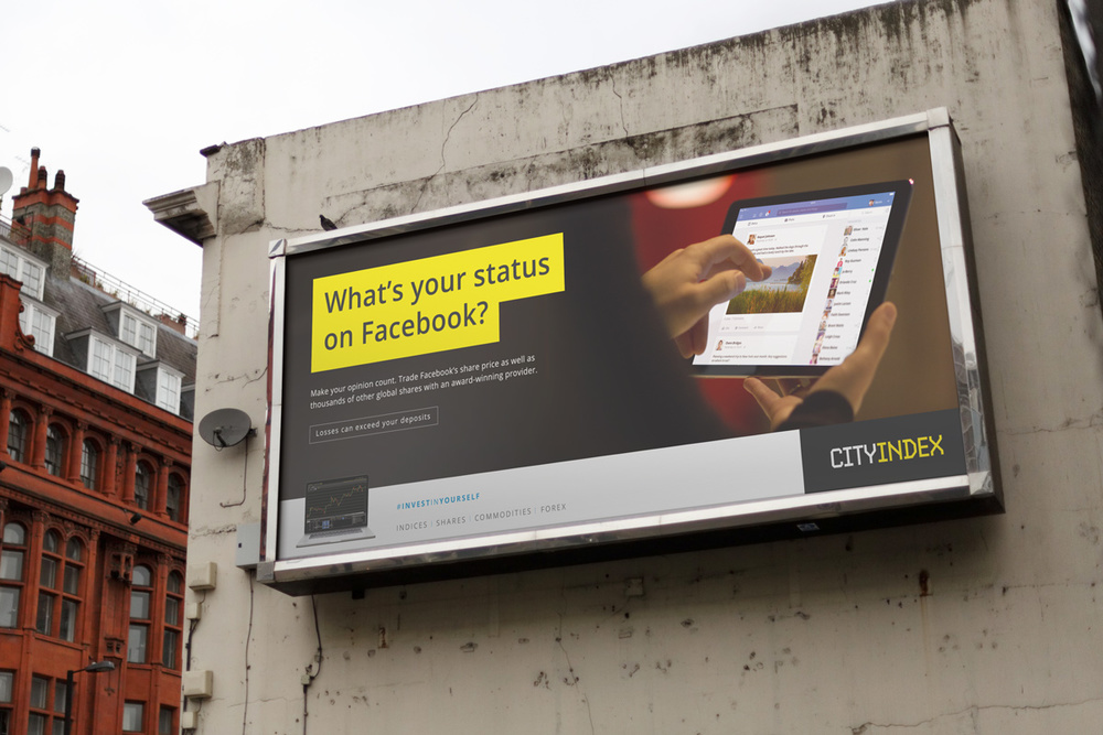City Index Become a Trader billboard