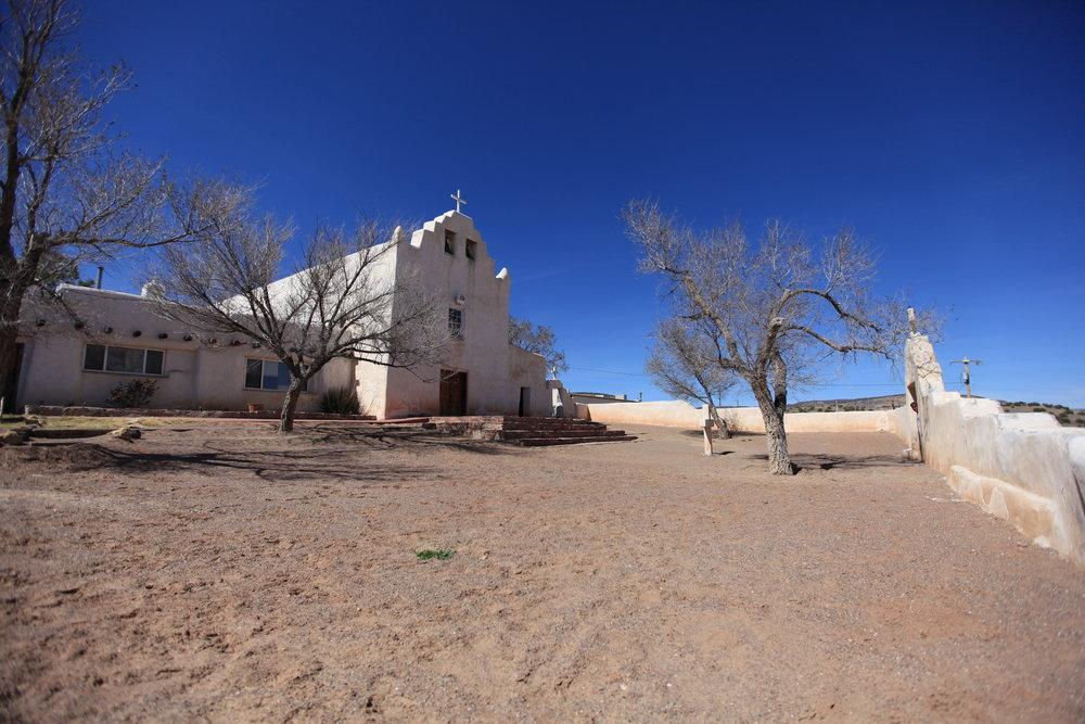 St. Joseph's Mission Church, Laguna Pueblo, dating from 1699.
