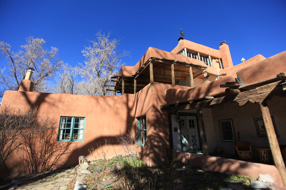 Mabel Dodge Luhan's lodge in Taos - now a guesthouse.