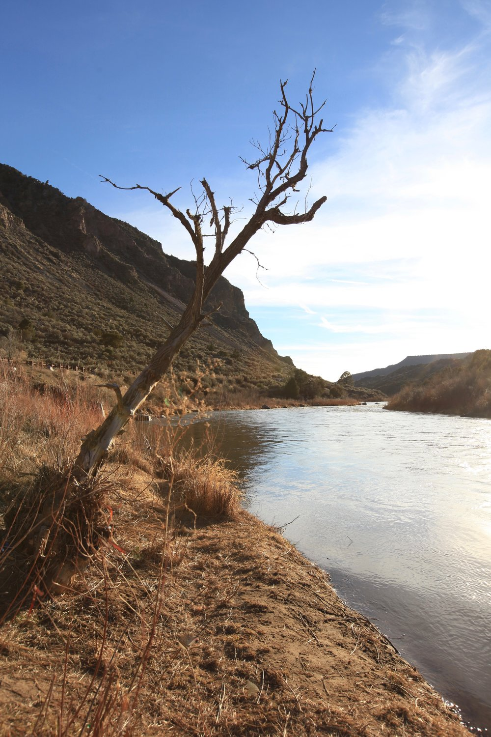 The Rio Grande - such a romantic river - just south of Taos.