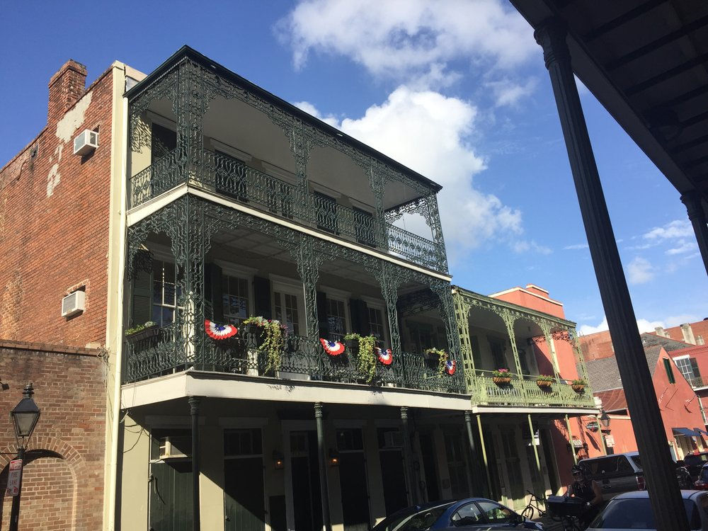 The wrought iron railings on the apartments in the French Quarter never cease to amaze. Though the places above are not quite what I imagine Louis, Lestat, and Claudia living in, there is the idea. It is extravagant, and so beautiful.