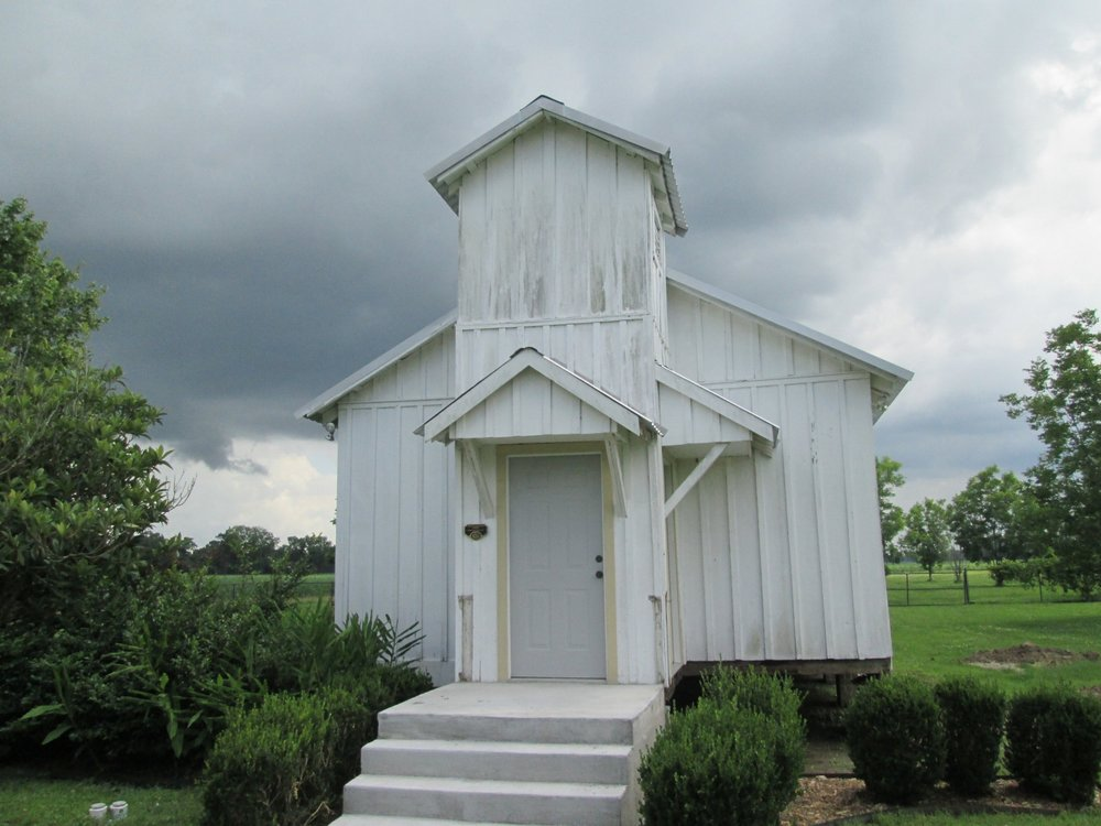 The church/schoolhouse that Ernest J. Gaines grew up with