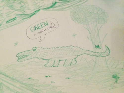 I don't know how to draw alligators.