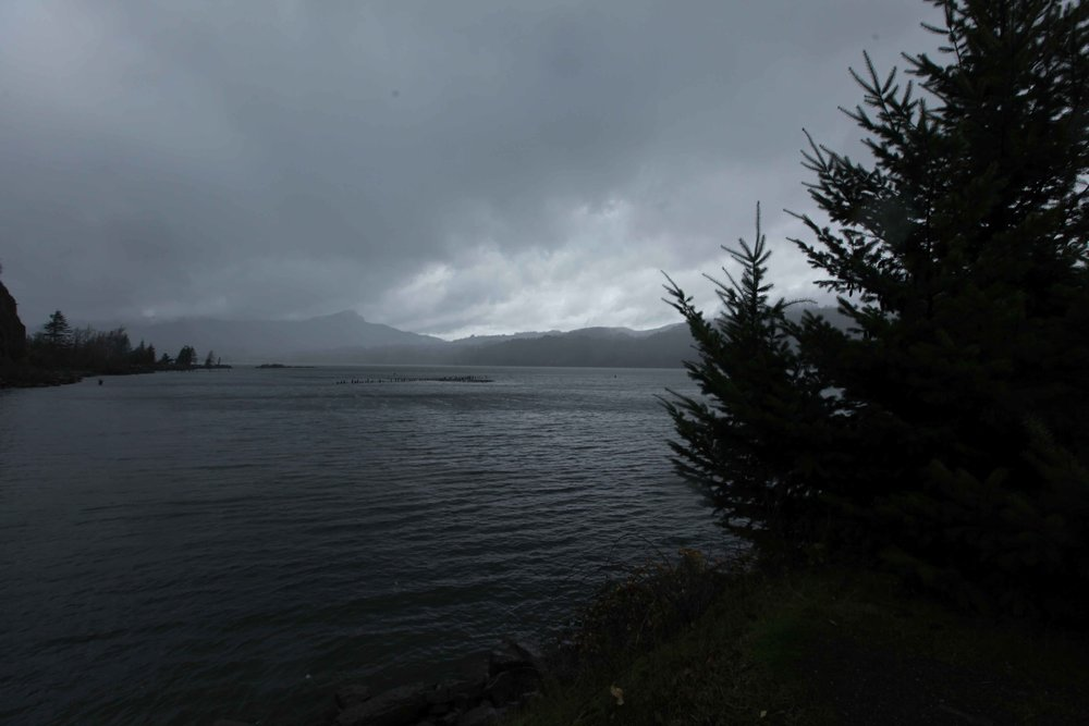 The Columbia River - moody and magnificent.