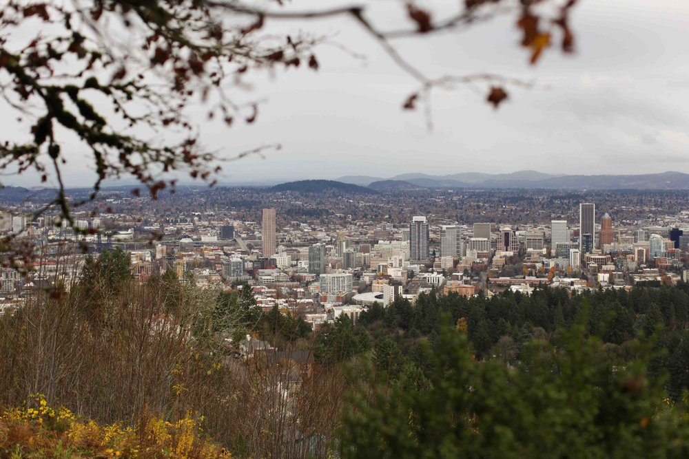 Downtown Portland - the view from the Pittock Mansion