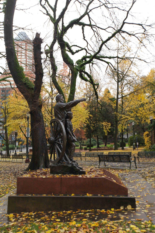 Pioneer Memorial in Chapman Square